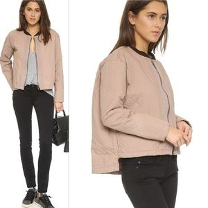 •Free People• Linear Quilted Bomber Jacket Blush